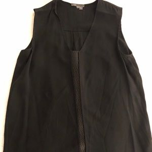 Vince Silk and Leather Top